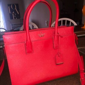 Kate Spade Candace Satchel Cameron Street Red Tote
